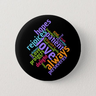 Christian Bible Verse LOVE IS PATIENT 2 Inch Round Button