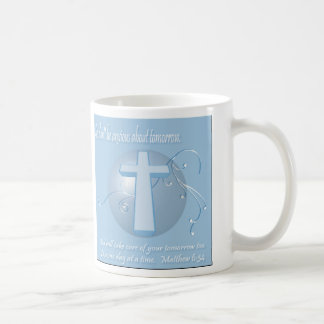 Christian Bible Verse Matthew 6:34 Coffee Mug