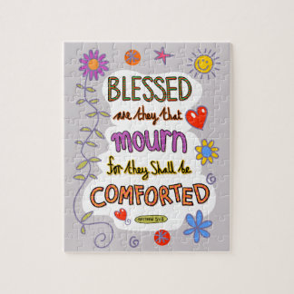 Christian Bible Verse Scripture Text Doodle Jigsaw Puzzle