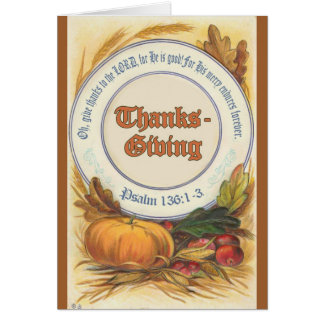 Christian Bible Verse Thanksgiving Greeting Card