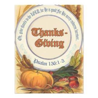 Christian Bible Verse Thanksgiving Personalized Invite