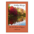 Christian Birthday Card -- The Lord Bless You