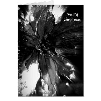 Christian black & white flower Christmas card