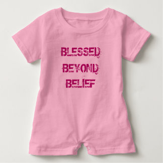 Christian Blessed Beyond Belief Baby Romper