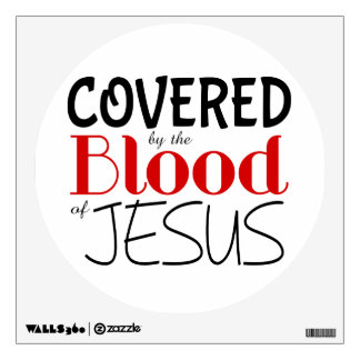 Christian BLOOD OF JESUS Wall Decal
