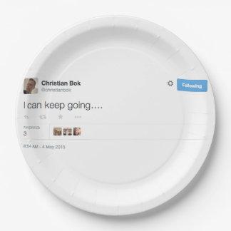 """Christian Bok Custom Paper Plate 7"""""""