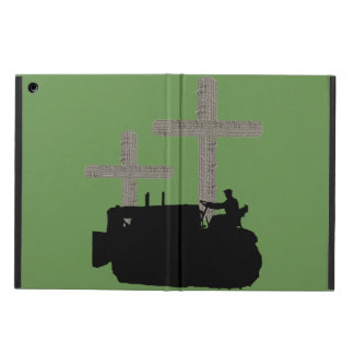 Christian Bulldozer Operator Cross Made from Track iPad Air Case
