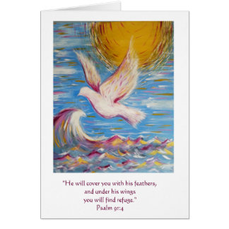 Christian Card Original Art Psalm 91