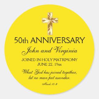 Christian Catholic 50th Anniversary Seal w Cross