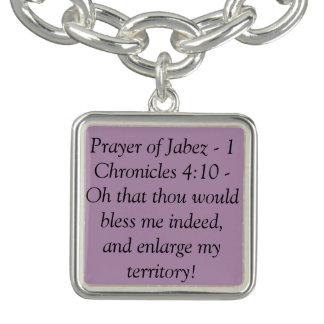 Christian charm bracelet - prayer of Jabez