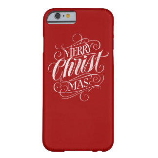 Christian Christ Christmas Chalkboard Calligraphy Barely There iPhone 6 Case
