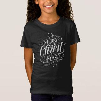 Christian Christ Christmas Chalkboard Calligraphy T-Shirt