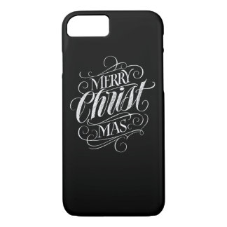 Christian Christ Christmas Chalkboard Lettering iPhone 8/7 Case