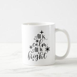 Christian Christmas All is Calm All is Bright Coffee Mug