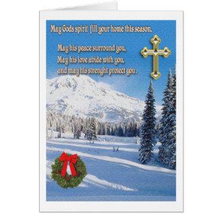 christian christmas card