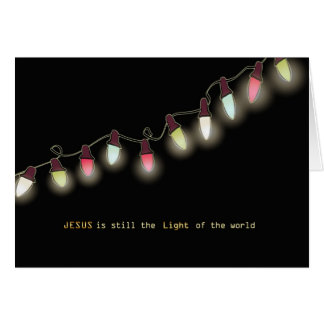 Christian Christmas Card, His light still shines Card