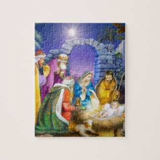 Christian Christmas card Jigsaw Puzzle