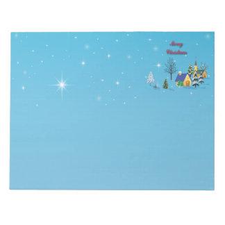 Christian Christmas Church Night Sky Stars Notepad