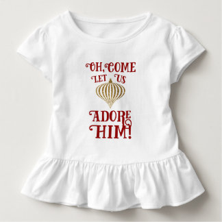 Christian Christmas Gold Ornament Let Us Adore Him Toddler T-shirt