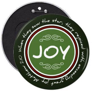 Christian Christmas Joy Bible Verse Round Button