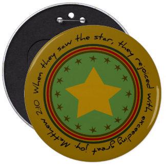 Christian Christmas Star Bible Verse Round Button