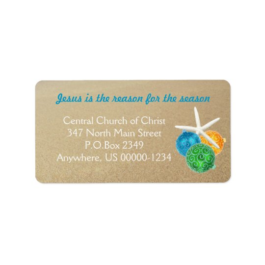 Christian Christmas Tropical Themed Address Labels
