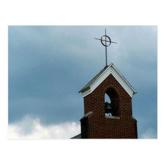 Christian Church Steeple Postcard