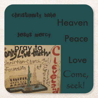 Christian coaster-come, seek! square paper coaster