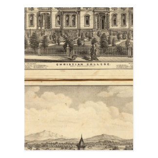 Christian College and Pacific Methodist College Postcard