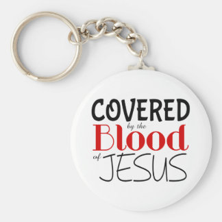 Christian COVERED BY BLOOD OF JESUS Keychain