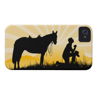 Christian Cowboy iPhone Case