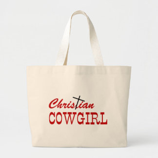 Christian Cowgirl Large Tote Bag