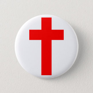 Christian Cross 2 Inch Round Button