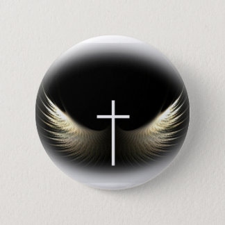 Christian Cross and Holy Spirit 2 Inch Round Button