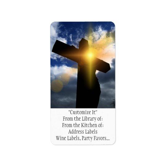 Christian Cross at Easter Sunrise Service