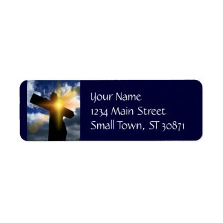 Christian Cross at Easter Sunrise Service Return Address Label
