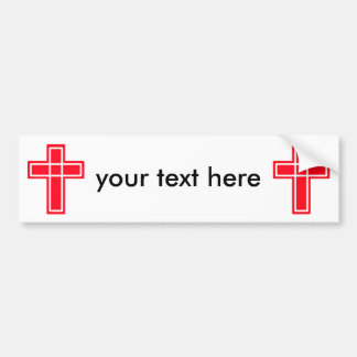 Christian cross bumper sticker for your text