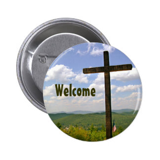 Christian Cross Church Greeters Pin