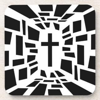Christian Cross Coaster
