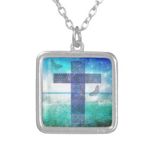 Christian Cross Contemporary  art Necklaces