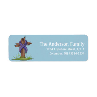 Christian Cross Easter Holiday Address Labels