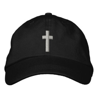 Christian Cross Embroidered Hat