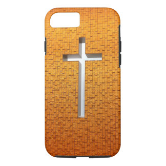 Christian Cross in White and Gold iPhone 7 Case