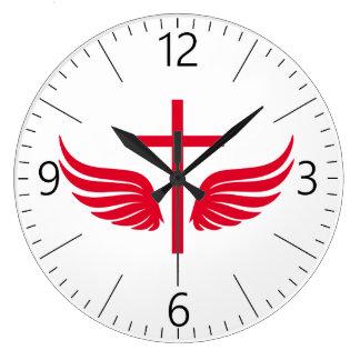 Christian cross large clock
