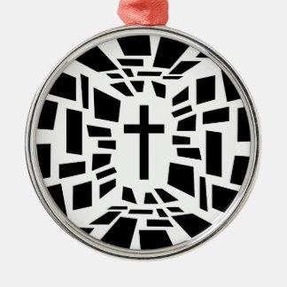 Christian Cross Metal Ornament