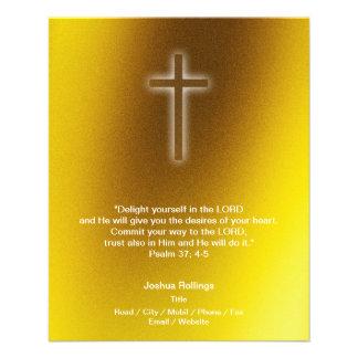 Christian Cross on gold background Full Color Flyer
