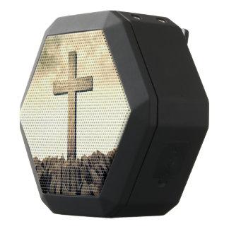 Christian Cross On Mountain Black Bluetooth Speaker