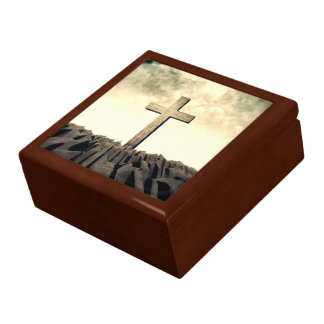 Christian Cross On Mountain Gift Box