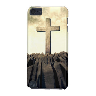 Christian Cross On Mountain iPod Touch 5G Covers