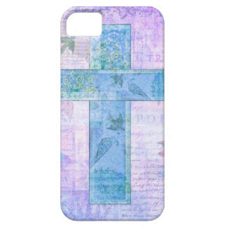 Christian Cross Painting nature butterflies birds iPhone 5 Cover